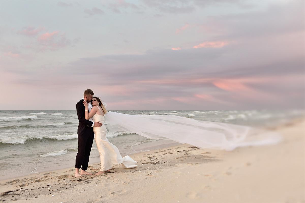 Fotograf ślubny, Kielce, plener nad Bałtykiem