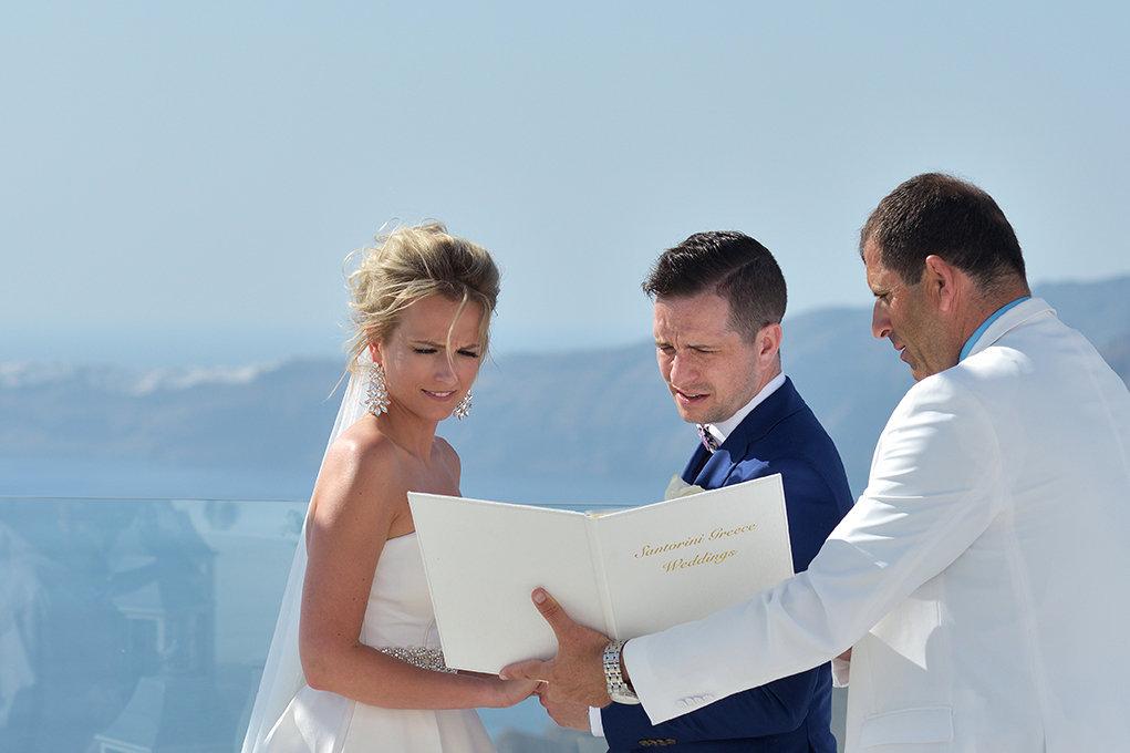 Fotografia ślubna Kielce, sesja ślubna w Santorini w Grecji